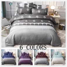 Blues, King, quiltcover, Grey