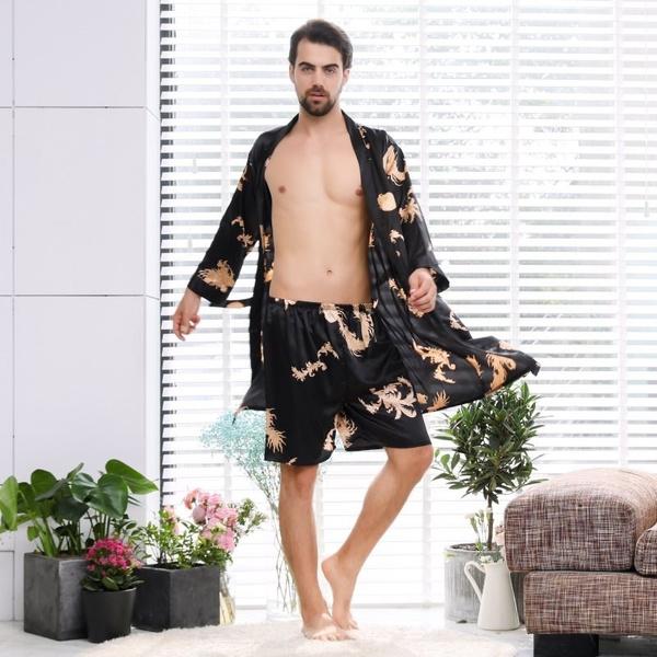 Summer, nightwear, mensbathrobe, gowns