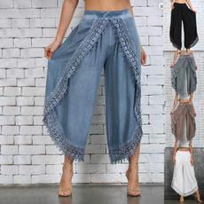 Summer, Plus Size, Lace, harem pants