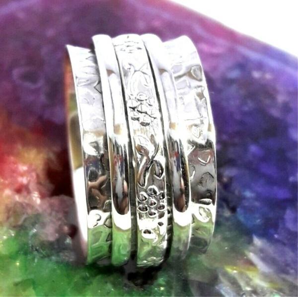 meditationring, Sterling, 925 sterling silver, Jewelry