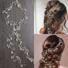 pearlhairband, hair, bridalhairjewelry, Crystal