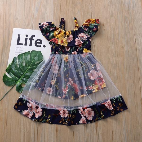 Summer, Fashion, ruffle, flowergirl