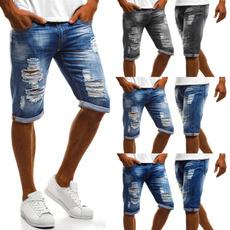 Summer, men jeans, Plus Size, Men Shorts