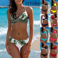 bathing suit, Underwear, Bikinis Set, leaf