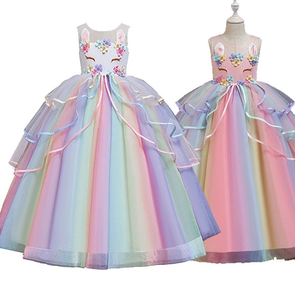 rainbow, Princess, Dresses, Dress