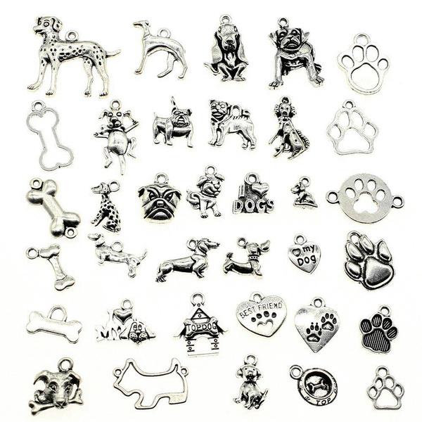 Antique, Jewelry Supplies, dogbonepawcharm, Pets