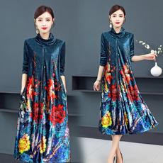 gowns, velvet, Chinese, Sleeve