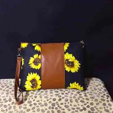 sunflowerzipperbag, womenwristletpurse, Sunflowers, womenclutchbag