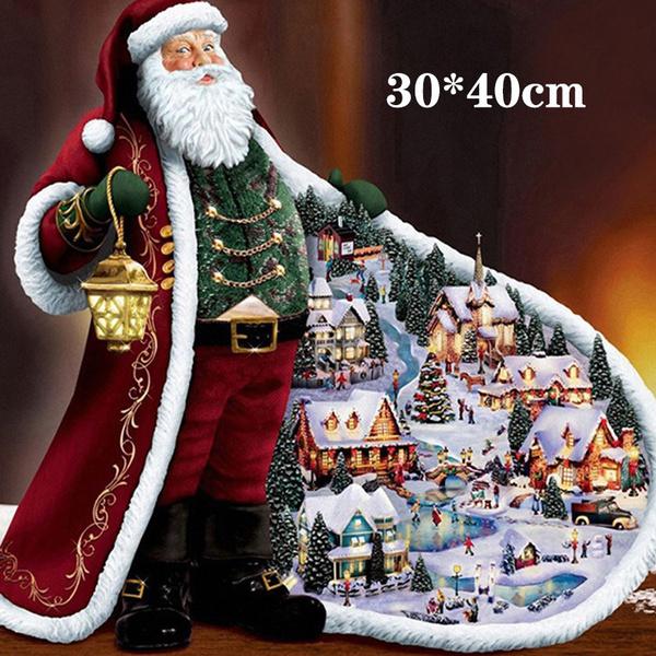 Christmas, fulldiamond, diamonddrawing, Santa Claus
