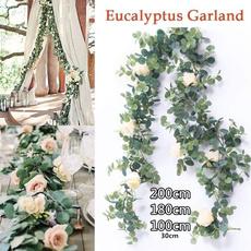 eucalyptusgarland, Decor, silk, Garland