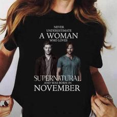 supernaturalshirt, Cotton T Shirt, Fashion, Cotton