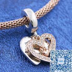 Sterling, Heart, pandora bracelet, 925 sterling silver