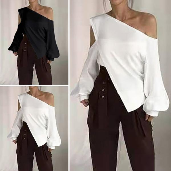 blouse, fashion women, shoulderoff, Sleeve