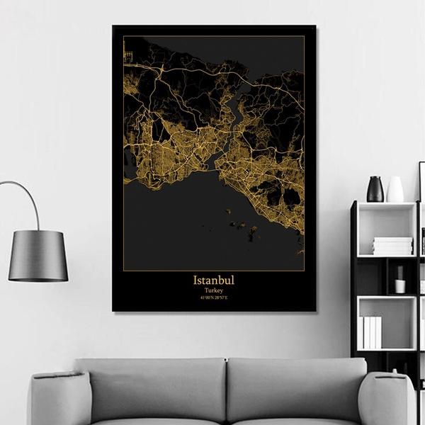 artwallprint, Home Decor, gold, Posters