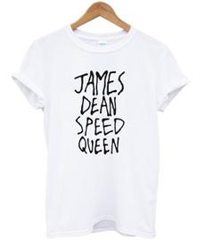 White T-Shirt Women, designer t-shirt, jamesdeanspeedqueentshirt, ginch