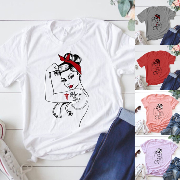 cute, nurseshirt, nursegift, Cotton T Shirt