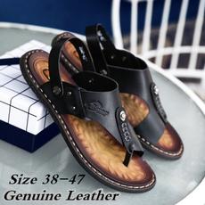 Flip Flops, Exterior, leather, Hombre