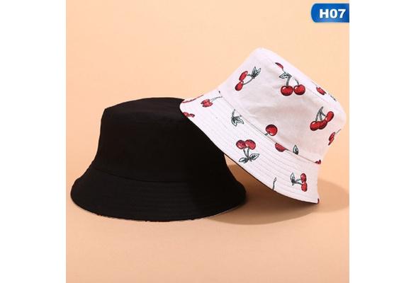 Happy Cherry Sombrero de Beb/é Algod/ón Ajustable Gorro de Pescador a Prueba de Sol Ni/ños Ni/ñas ala Ancha Sombrero de Cubo