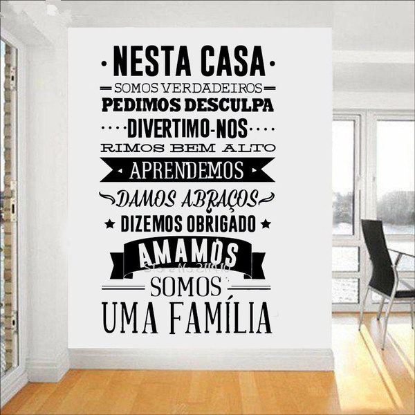 decoration, portuguesehouseruleswallsticker, Home & Living, wallpicture