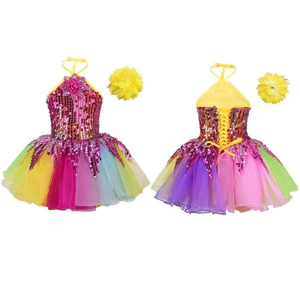 ballroomdancewear, Halter, Dress, balletdanceclothe