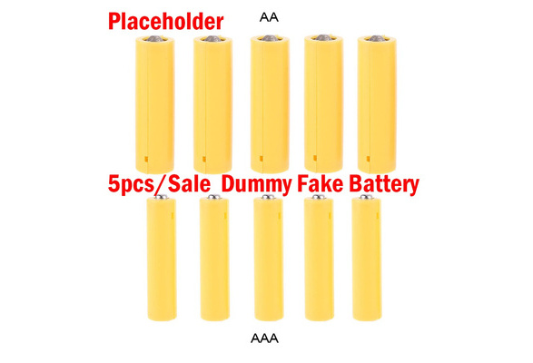 OHTOP 4Pcs Dummy Battery LR03 Placeholder Cylinder Conductor AAA Size Dummy Fake Battery Setup Shell