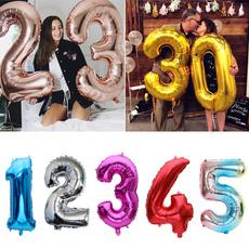 balloonsaccessorie, Cumpleaños, heliumfoilballoon, numberballoon