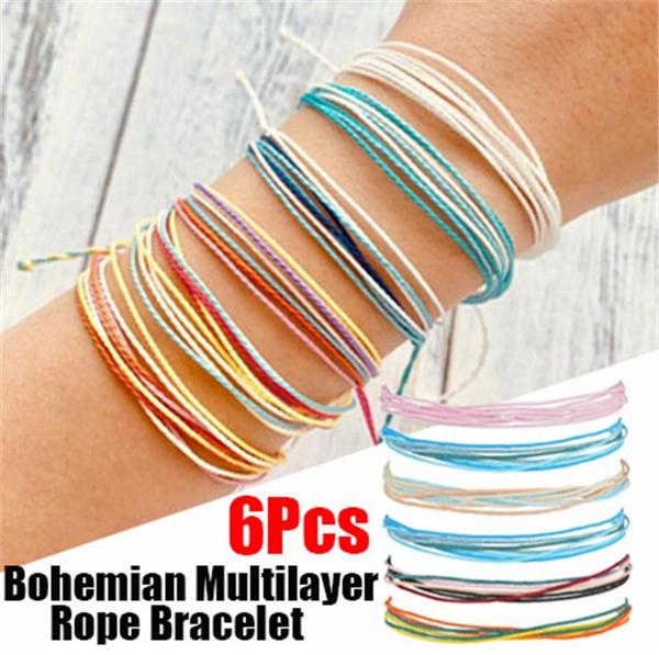 Charm Bracelet, Beaded Bracelets, rope bracelet, diybracelet