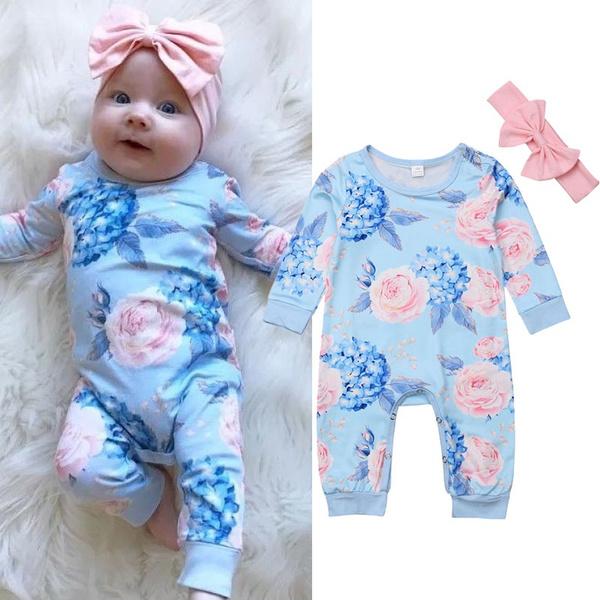 Infant, Head Bands, Floral, Clothes