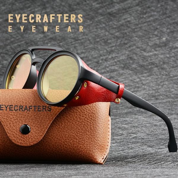 retro sunglasses, Fashion, Cyber Punk, Round Sunglasses