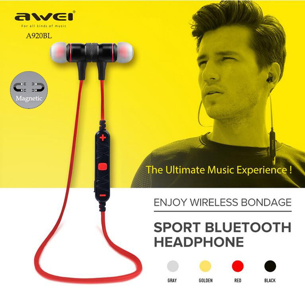 Headset, Stereo, Sport, awei