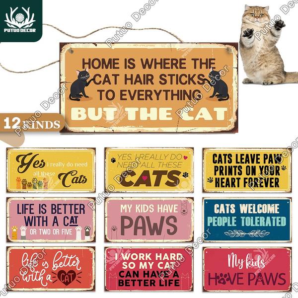 catsign, Decor, Door, Home Decor