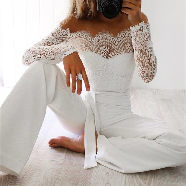 Women Rompers, Fashion, Lace, Sleeve