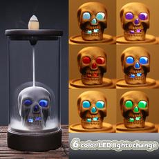 led, skull, sachet, ceramicart