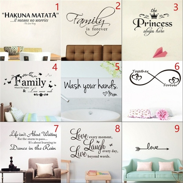 PVC wall stickers, Love, Family, Stickers