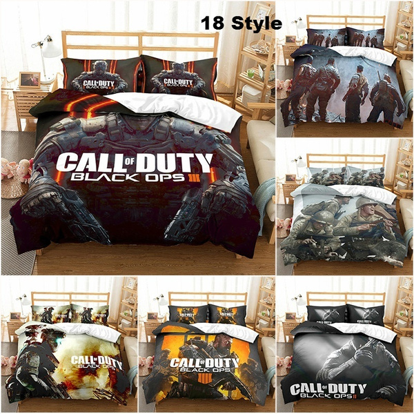 Duty Game Pattern Printed Duvet Cover, Call Of Duty Queen Bedding