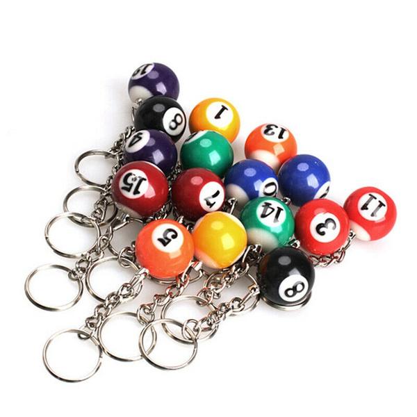 Key Chain, Gifts, billiardcue, billiardspoolkeyring