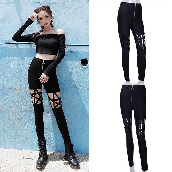 Leggings, Fashion, high waist, Hollow-out