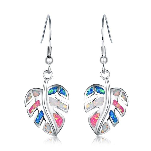 Sterling, Silver Jewelry, opalearring, wedding earrings