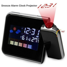 weather forecast, projector, thermometerclock, Clock