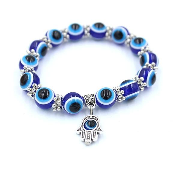 Charm Bracelet, Blues, Fashion, eye