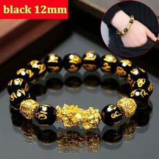 Beaded Bracelets, Joyería de pavo reales, gold, braceletchinese