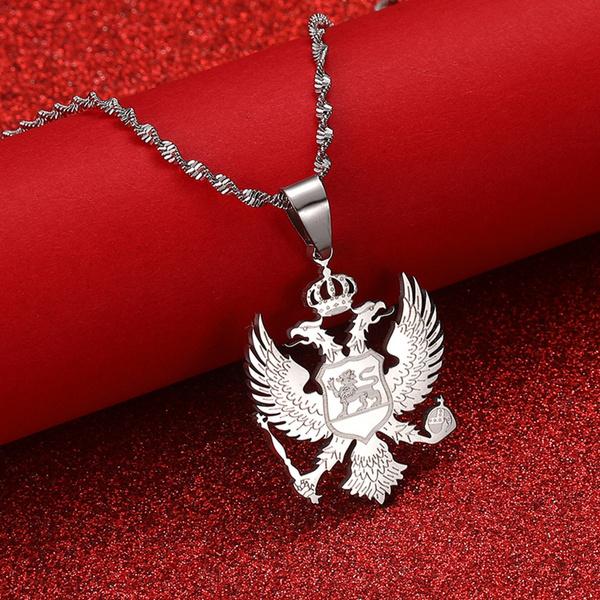 Steel, Eagles, albania, albaniaeaglenecklace