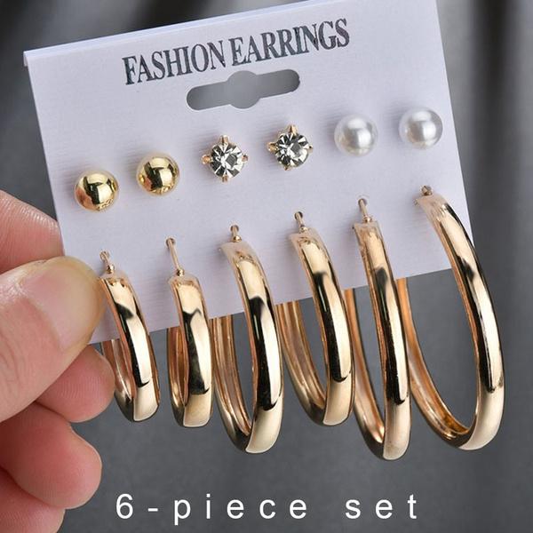 hoopearringsset, Hoop Earring, Jewelry, gold