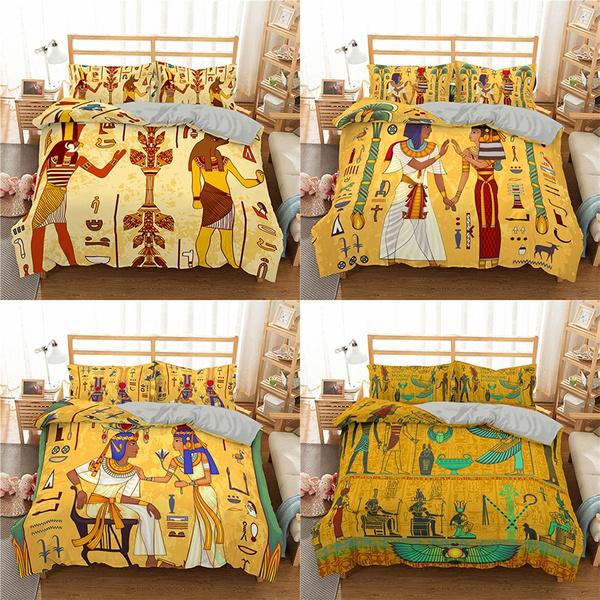 quiltset, Egyptian, Vintage, Bedding