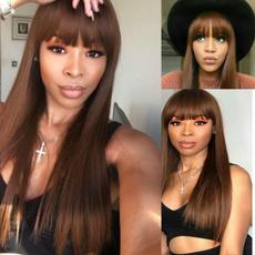 wig, brown, straightwig, Straight