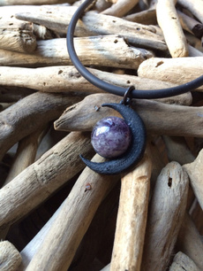 amethystnecklace, moongoddessjewelry, Jewelry, moonnecklace