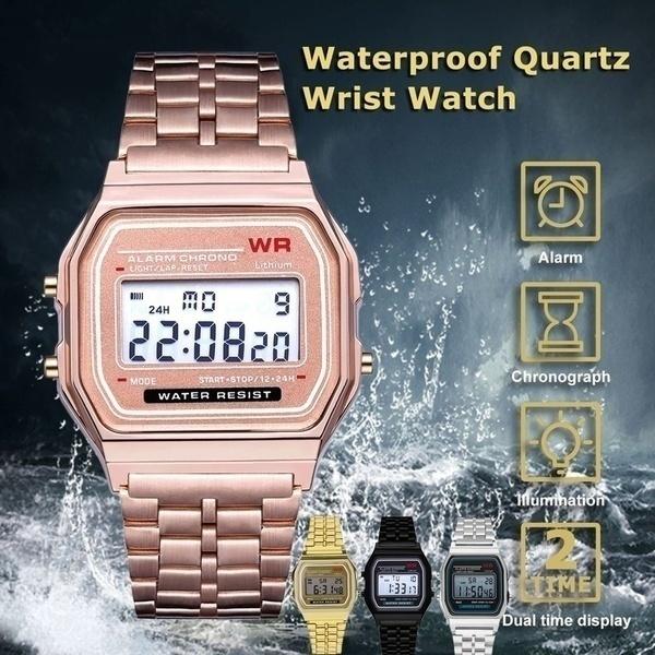 LED Watch, golden, Fashion, led