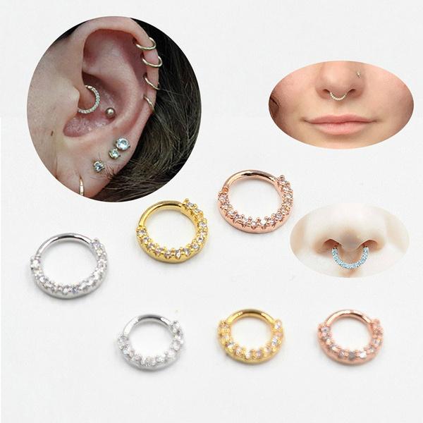 mensnosering, DIAMOND, zirconnosering, Jewelry
