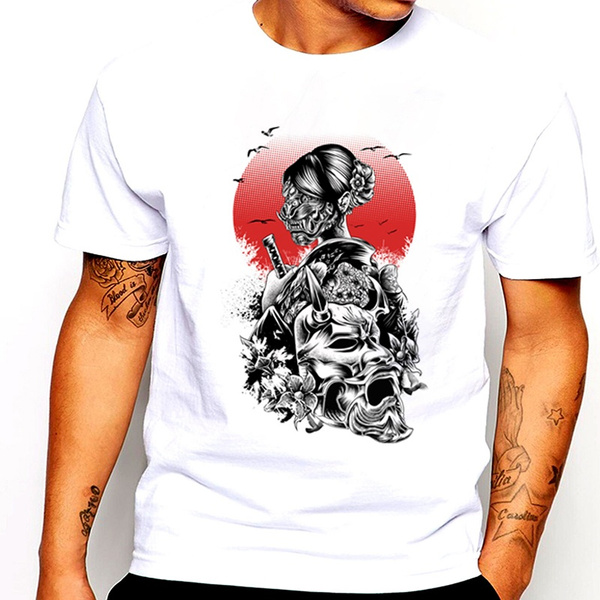 Summer, Tops & Tees, geisha, Mens T Shirt
