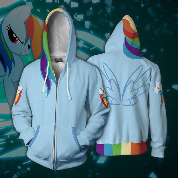 Couple Hoodies, rainbow, Cosplay, cardigan